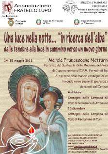 Locandina marcia francescana verso le carceri